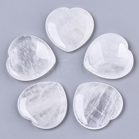Natural  Quartz Crystal Thumb Worry Stone G-N0325-01W-1
