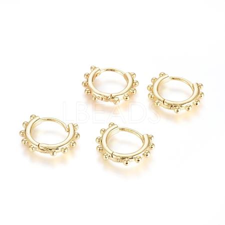 Brass Huggie Hoop EarringsEJEW-G275-03G-1
