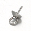 304 Stainless Steel Cup Pearl Peg Bails Pin Pendants STAS-G170-16P-4mm-2