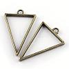 Rack Plating Alloy Triangle Open Back Bezel PendantsX-PALLOY-S047-09F-FF-1