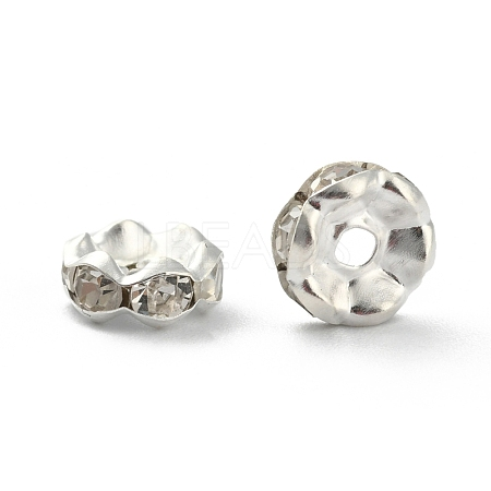 Iron Rhinestone Spacer BeadsX-RB-A008-8MM-S-1