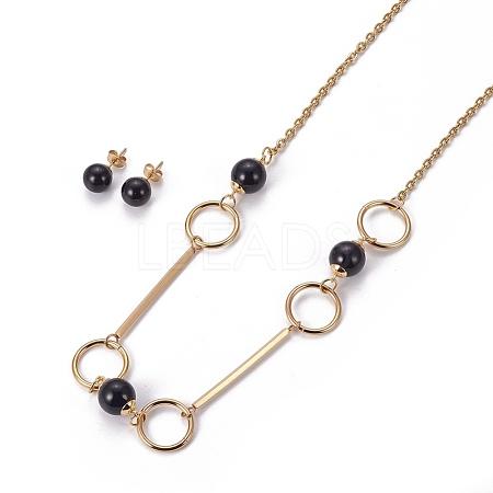 304 Stainless Steel Jewelry SetsSJEW-E329-05G-1