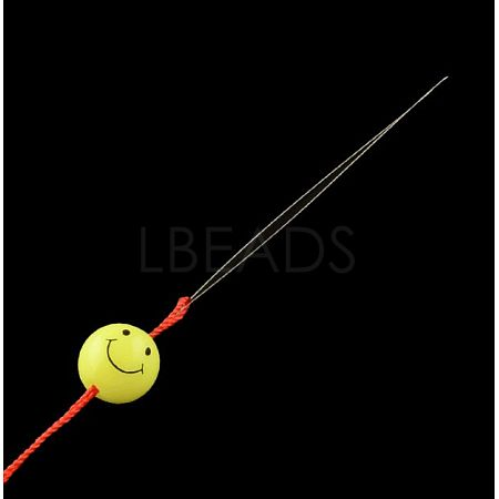 Iron Collapsible Big Eye Beading NeedlesTOOL-R095-03-1