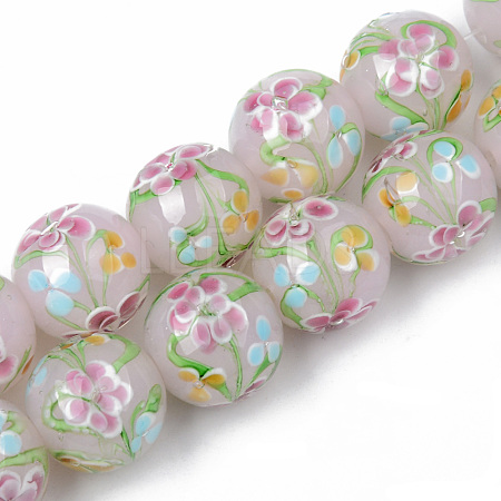 Handmade Lampwork Beads Strands LAMP-N021-014-1