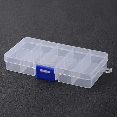 Stationary 10 Compartments Rectangle Plastic Bead Storage Containers X-CON-M005-01-1