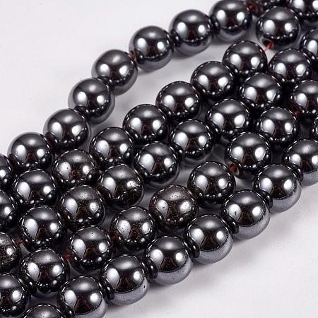 Non-Magnetic Synthetic Hematite Beads StrandsG-H1624-8mm-1-1