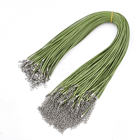 Waxed Cord Necklace MakingNCOR-T001-16-1