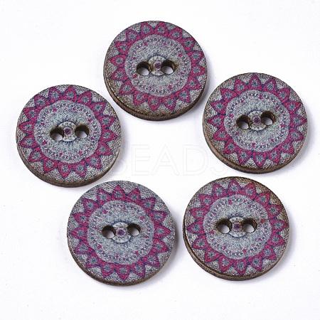 2-Hole Printed Wooden ButtonsBUTT-ZX004-01A-01-1