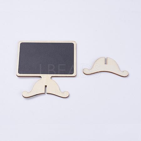 Wood Easel Chalkboard Place Card Holder BlackboardsX-AJEW-G017-04A-1